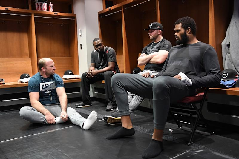 WICHITA, KS - MARCH 09: Maurice Greene waits backstage during the UFC Fight Night event at Intrust Bank Arena on March 9, 2019 in the Wichita, Kansas. (Photo by Mike Roach/Zuffa LLC/Zuffa LLC via Getty Images)