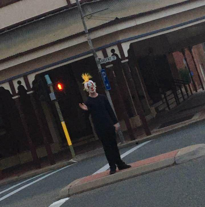 One clown was photographed in the main street of Broken Hill, Argent Street, in far western NSW. Photo: Facebook