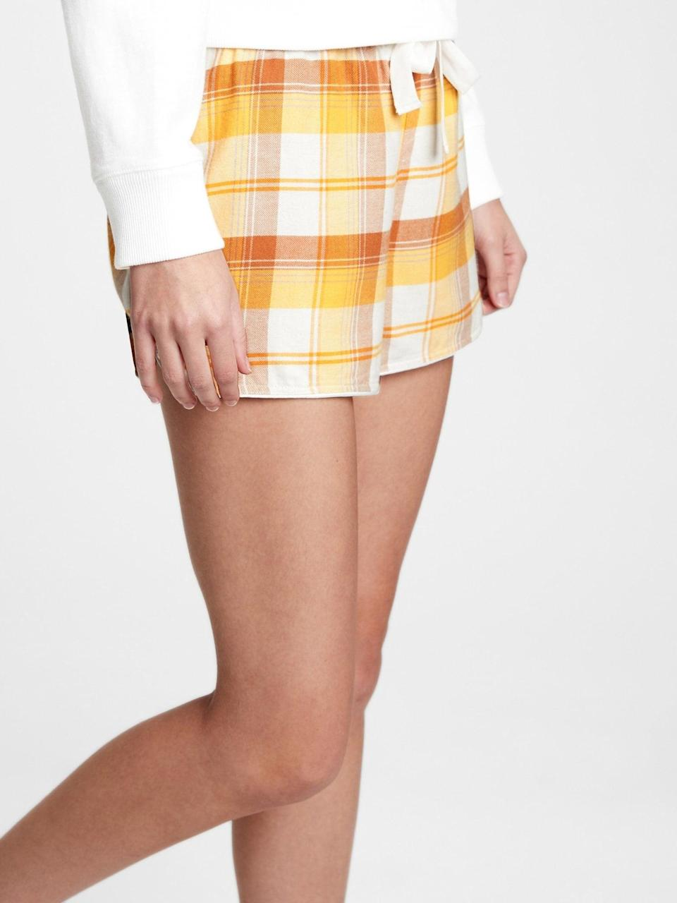 <p>These <span>Gap Flannel Pajama Shorts</span> ($12, originally $25) are perfect for lounging around the house all year round!</p>