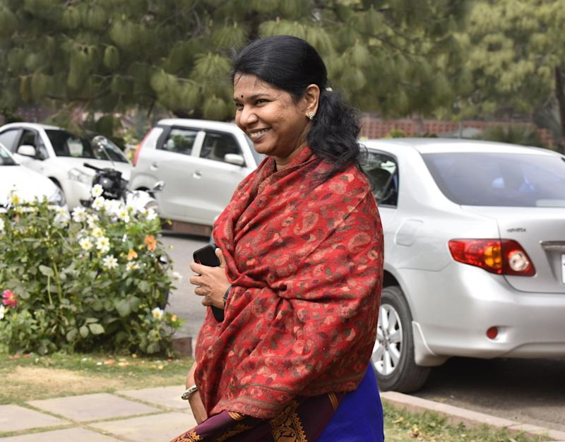 DMK MP Kanimozhi in a file photo. (Photo: Hindustan Times via Getty Images)