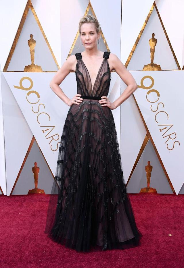 <p>Leslie Bibb attends the 90th Annual Academy Awards at Hollywood & Highland Center on March 4, 2018 in Hollywood, California. (Photo by Frazer Harrison/Getty Images) </p>