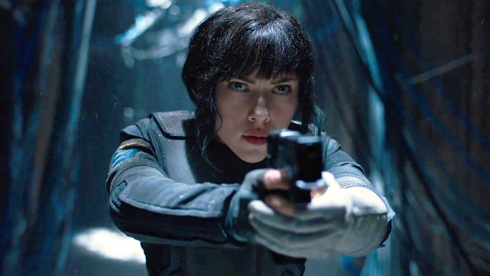 Johansson in Ghost In The Shell (Credit: Paramount)