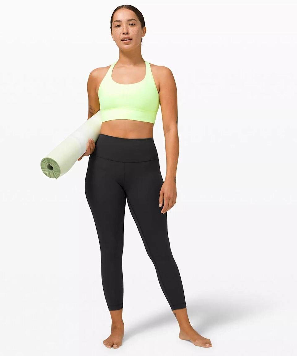 <p>The OG Lululemon pant, the leggings that launched a thousand ships, the <span>Wunder Under Hi-Rise 7/8 Tight</span> ($98) is an icon of its time. This is the pant that makes your butt look good. It comes in two fabrics, Luon and Luxtreme. The Luon feels more like cotton, while the Luxtreme is designed more for sweat-wicking purposes. All in all, though, this is a thicker legging and is better for yoga or Pilates vs. running or indoor cycling.</p> <p><b>Why we love it:</b> If you're looking for supportive, low-impact friendly leggings, these are for you.</p>