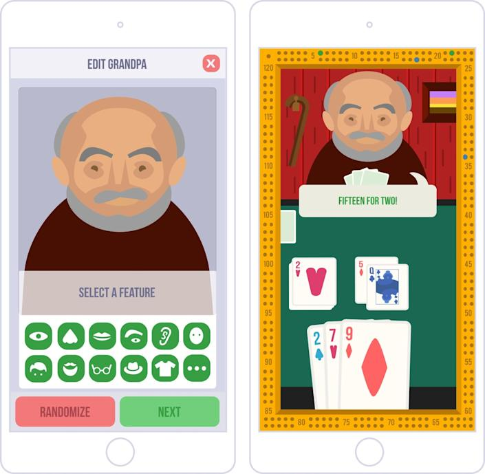 """""""Cribbage With Grandpas"""" offers constant problem-solving to keep the mind occupied."""