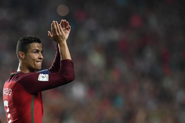 Cristiano Ronaldo will be appearing at his fourth – and possibly final? – World Cup in 2018. (Getty)