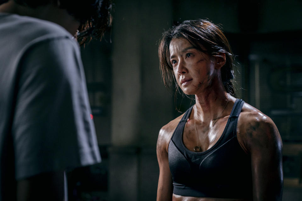 Lee Si-young in Sweet Home, released on Netflix on 18 Dec 2020, a gory and thrilling 10-part series adaptation of a popular dystopian-zombie webtoon.