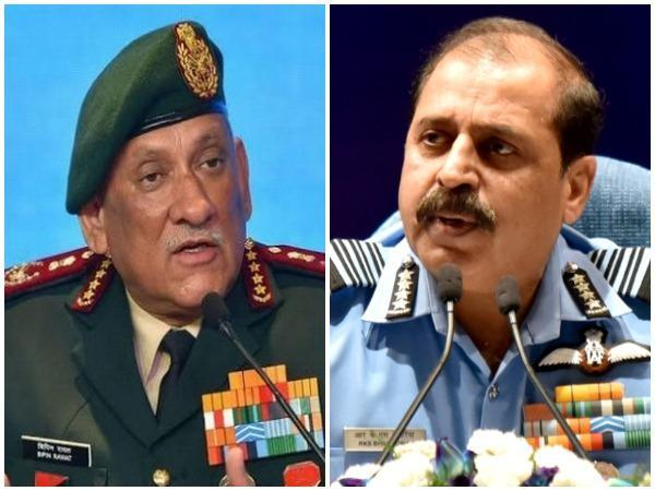 CDS General Bipin Rawat and Air Chief Marshal RKS Bhadauria (left to right)