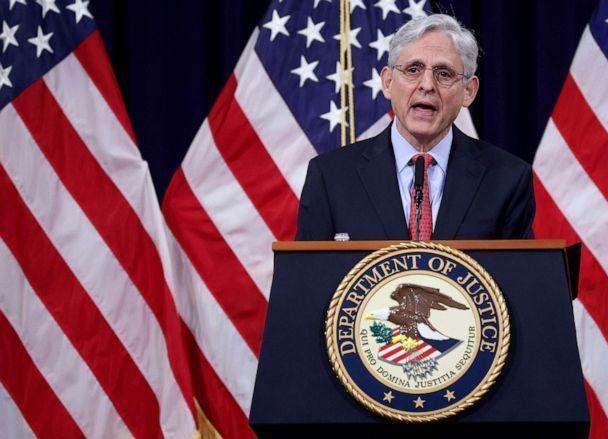 PHOTO: Attorney General Merrick Garland speaks during an event at the Justice Department, June 15, 2021, in Washington, D.C. (Win Mcnamee/Getty Images)
