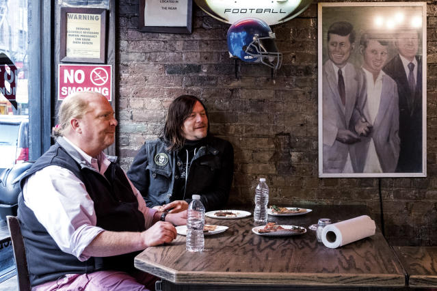 Reedus and Mario Batali (Photo: Jojo Whilden/AMC)