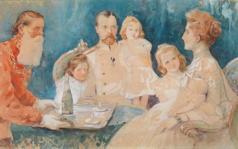 Doomed dynasty: a 1902 portrait of the Romanovs by Elena Samokish-Sudkovskaya - This content is subject to copyright.