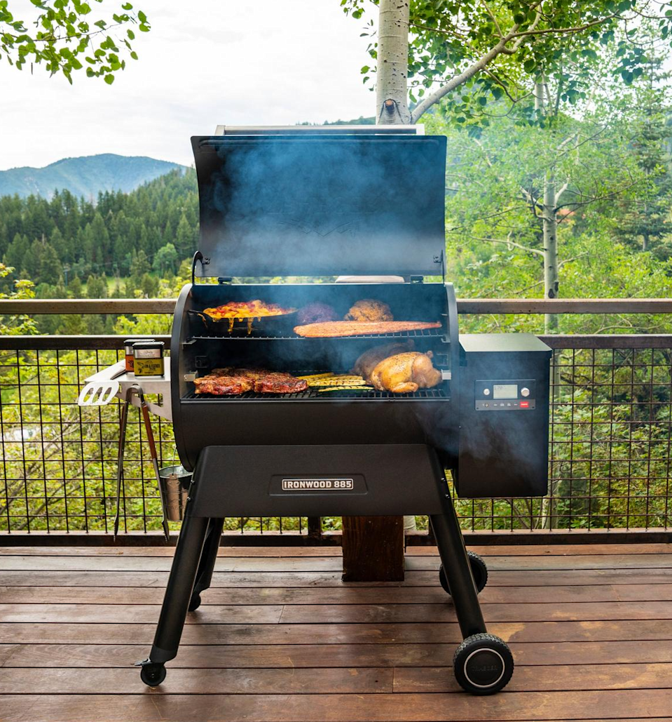"""<h2>Best Wood-Pellet Grill</h2><br><h3>Traeger Ironwood Series 885</h3><br><strong>The Hype</strong>: 4.7 out of 5 stars and 189 reviews on Amazon<br><br><strong>BBQ Buffs Say</strong>: """"First, it makes smoked brisket easy. I've done 2 and both were better than most BBQ places I've been to anywhere in the country. The super smoke option provided a great smokey flavor and ring...Clean up is easy, simply clean the grates, dump the grease bucket, and vacuum up the pellet dust. The wifi app works really nice, so much better than my other Bluetooth smoker. They promote not having to deal with propane tanks but when you think about fueling the grill for long cooks, you use up a lot of pellets at nearly $20 a bag. I've done the 2 briskets, and 4 other shorter dinner cooks and have gone through just under 3 bags. Not a complaint, just my experience...<br>If you have the money, enjoy the flavor of wood-cooked foods, and a passion for outdoor cooking, just get one. You won't be disappointed."""" <br><br><strong>Traeger</strong> Ironwood Series 885 Pellet Grill, $, available at <a href=""""https://go.skimresources.com/?id=30283X879131&url=https%3A%2F%2Fwww.traegergrills.com%2Fpellet-grills%2Fironwood%2F885"""" rel=""""nofollow noopener"""" target=""""_blank"""" data-ylk=""""slk:Traeger"""" class=""""link rapid-noclick-resp"""">Traeger</a>"""