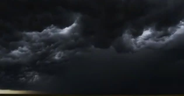 A still shot of thunderous clouds rolling over America's West. Source: Mike Olbinski
