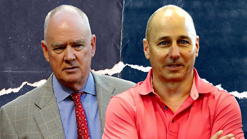 Sandy Alderson and Brian Cashman TREATED ART