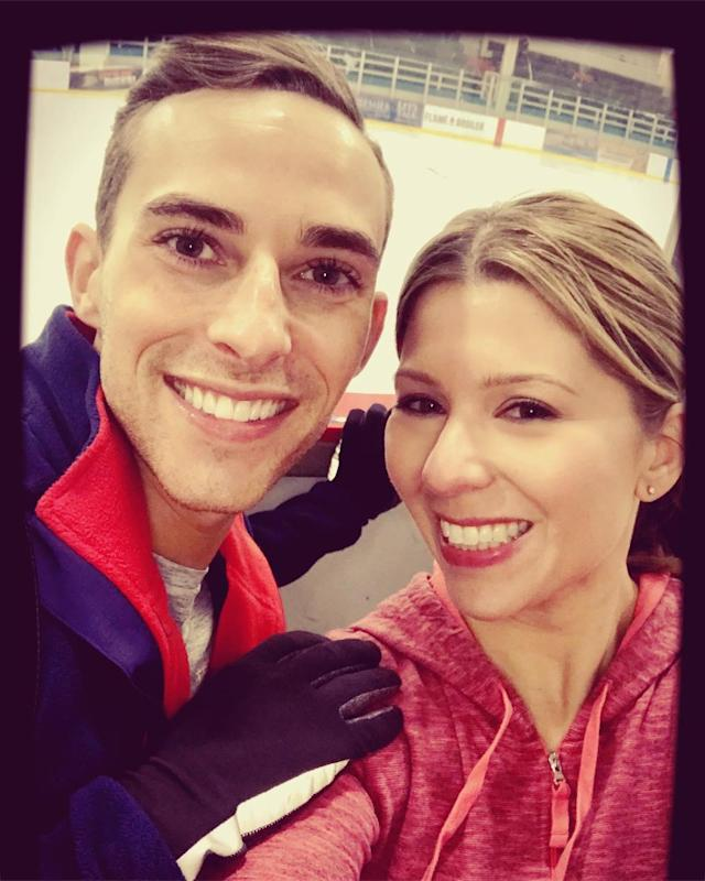 <p>@lizloza_ff: Wishing @adaripp ALL the luck in #pyeongchang2018 (not that he'll need it).<br>(Instagram/@lizloza_ff) </p>