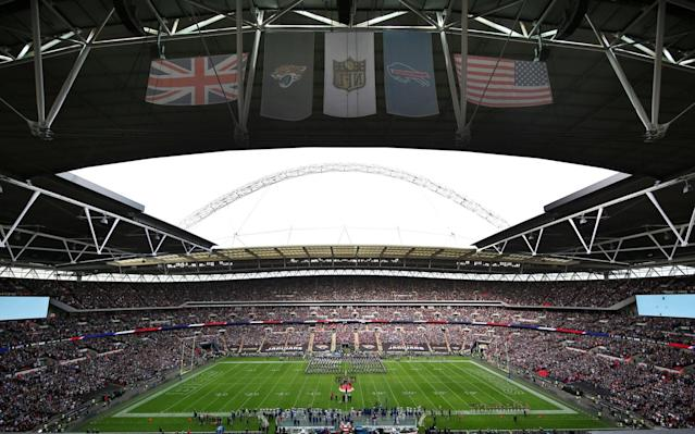 Wembley Stadium ahead of the game between the Jacksonville Jaguars and Buffalo Bills in 2015 - Getty Images