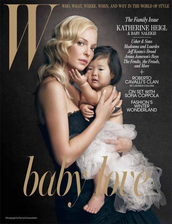 """<p>Shortly after adopting 23-month-old Naleigh from South Korea, Heigl posed with her daughter on the cover of <i>W </i>magazine.""""I was about to play a woman [in <i>Life as We Know It</i>] who inherits a baby, and I was experiencing the exact same thing,"""" Heigl told the publication at the time. """"My sister is Korean. I hope one day she and Naleigh will be able to talk about what it's like to be adopted.""""</p>"""