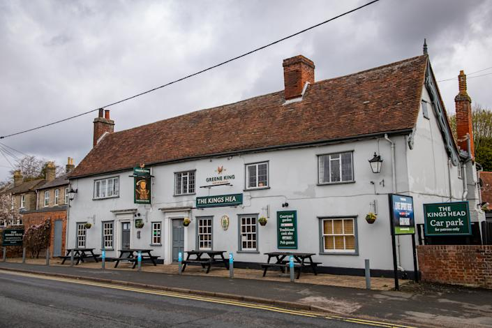 The Kings Head pub in Great Cornard, Suffolk where the explosion happened. (SWNS)