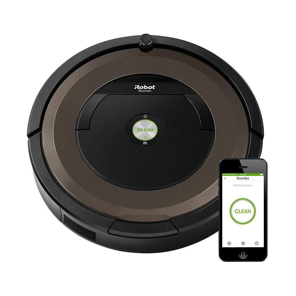 """<p><strong>iRobot</strong></p><p>amazon.com</p><p><strong>$470.00</strong></p><p><a href=""""https://www.amazon.com/dp/B06XS31V18?tag=syn-yahoo-20&ascsubtag=%5Bartid%7C2089.g.3486%5Bsrc%7Cyahoo-us"""" rel=""""nofollow noopener"""" target=""""_blank"""" data-ylk=""""slk:Shop Now"""" class=""""link rapid-noclick-resp"""">Shop Now</a></p><p>The robot-vacuum craze <a href=""""https://www.bestproducts.com/appliances/small/g2404/best-robot-vacuum-cleaners/"""" rel=""""nofollow noopener"""" target=""""_blank"""" data-ylk=""""slk:hasn't slowed down"""" class=""""link rapid-noclick-resp"""">hasn't slowed down</a>. This 890 iRobot Roomba — which has Wi-Fi connectivity and works with Alexa — is the Roomba brand's best-seller, as well as one of the top sellers on Amazon. </p>"""
