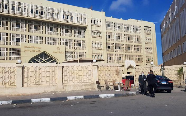 The EIPR staff were interrogated at the New Cairo Courthouse on suspicion of 'terrorism' - Reuters