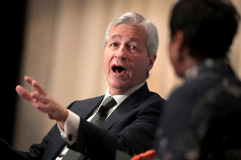 JPMorgan Chase Chief Executive Jamie Dimon, pictured November 2017, warned that global uncertainty might slow economic growth