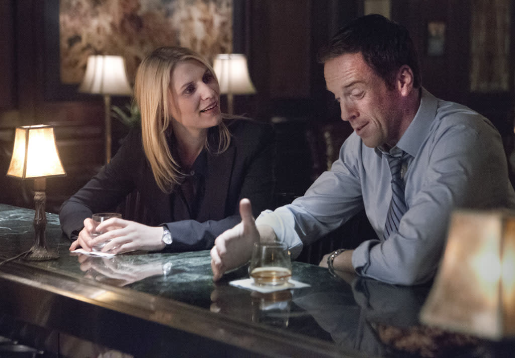 "Claire Danes as Carrie Mathison and Damian Lewis as Nicholas ""Nick"" Brody in the ""Homeland"" Season 2 episode, ""New Car Smell."""