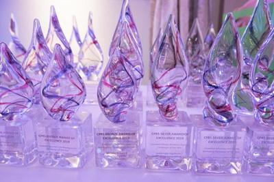 Awards of Excellence Statues - Photo courtesy of Canadian Press (CNW Group/Canadian Public Relations Society)