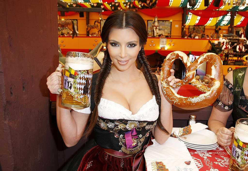 "While continuing on her European promotional tour for ""Keeping Up With the Kardashians,"" Kim K. made sure to stop off in Munich and celebrate Oktoberfest's 200th anniversary. Florian Seefried/<a href=""http://www.gettyimages.com/"" target=""new"">GettyImages.com</a> - September 22, 2010"