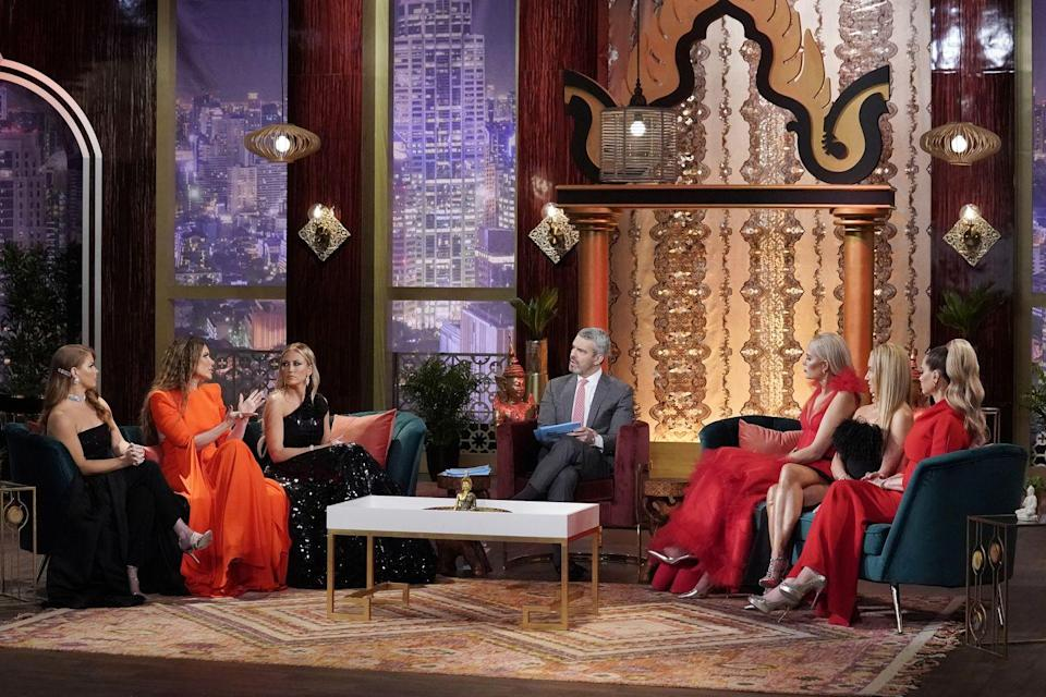 <p>Some are more planned than others. <em>The</em> <em>Real Housewives of Dallas</em> really nailed the black and red color scheme here, but usually the theme is a little less obvious and the women wear what they're most comfortable in—as long as it's cocktail attire.</p>