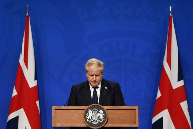 Boris Johnson will be holding a press conference on Tuesday at 4pm (Photo: TOBY MELVILLE via Getty Images)