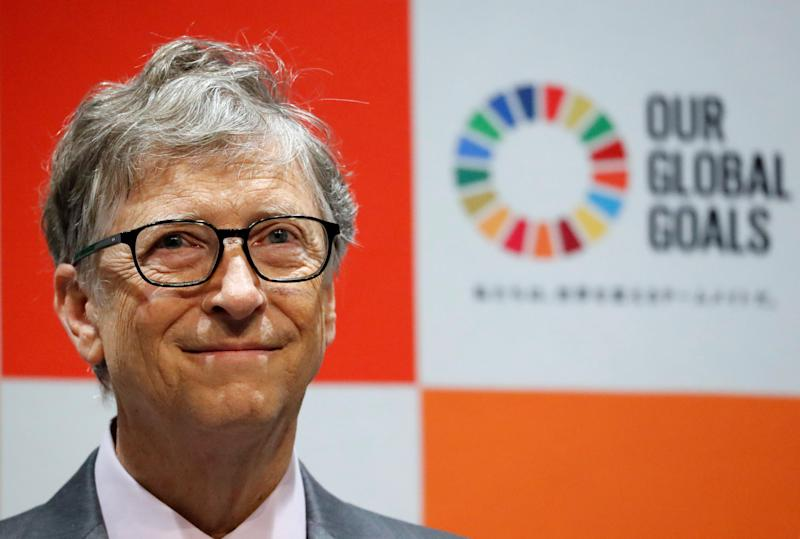 Bill Gates, co-chair of the Bill & Melinda Gates Foundation, attends a news conference as the foundation teams up with the Japan Sports Agency and Tokyo 2020 to promote the Sustainable Development Goals in conjunction with the Olympics, in Tokyo, Japan, November 9, 2018. REUTERS/Toru Hanai
