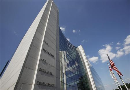 The headquarters of the U.S. Securities and Exchange Commission are seen in Washington