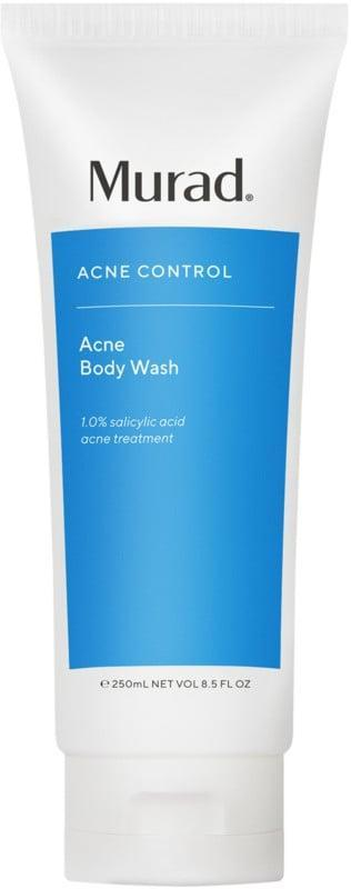 <p>The <span>Murad Acne Body Wash</span> ($44) works triple duty to control and prevent body-acne breakouts, exfoliate the skin, and soothe any irritation and redness.</p>