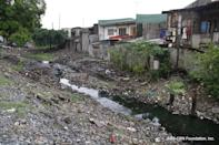 Estero de Paco headwater before the clean up.