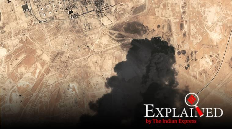 Saudi drone attacks, saudi arabia drone attacks, yemen drone attacks, Saudi arabia oil production, saudi oil production, express explained, indian express
