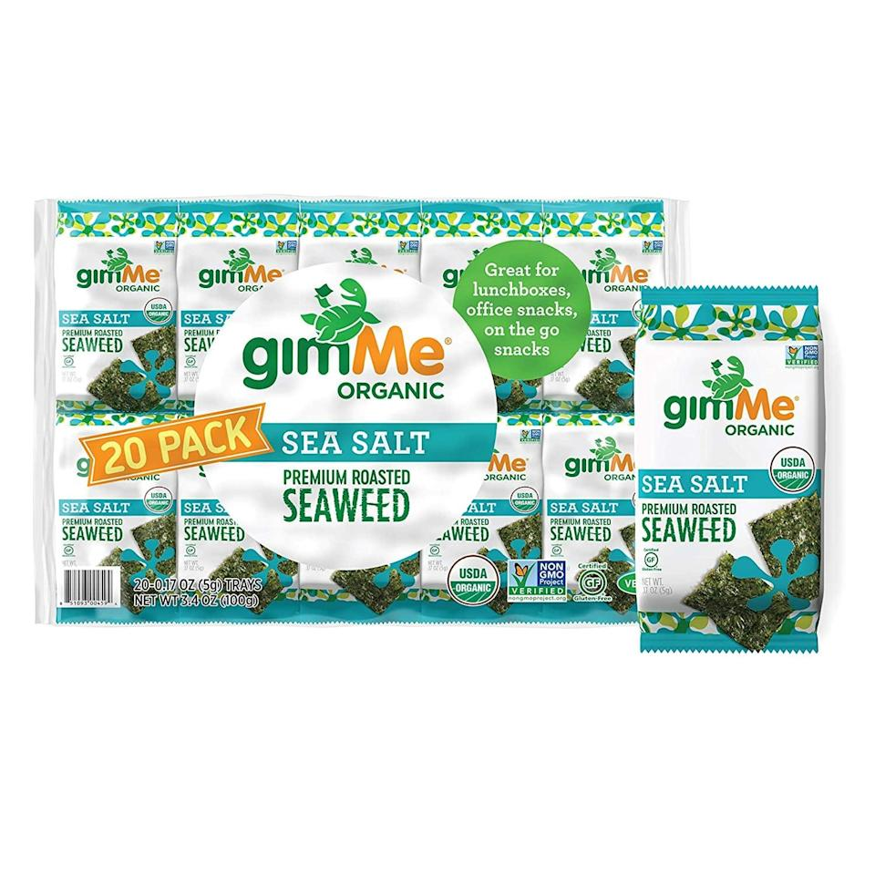 <p>Looking for a salty snack? These <span>GimMe Organic Roasted Seaweed Sheets</span> ($16 for 20) are delicious and satisfying. Once you start, you won't be able to stop.</p>