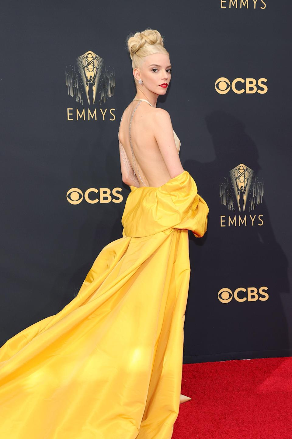 """<p>The 2021 Emmy Awards - aka the biggest night in television - turned into a triumphant night for British talent as <a href=""""https://www.goodhousekeeping.com/uk/lifestyle/a33595067/the-crown-season-5-cast-plot-air-date-spoilers/"""" rel=""""nofollow noopener"""" target=""""_blank"""" data-ylk=""""slk:The Crown"""" class=""""link rapid-noclick-resp"""">The Crown</a> swept the board, and writer and actress <a href=""""https://www.goodhousekeeping.com/uk/lifestyle/a32812581/michaela-coel-i-may-destroy-you-air-date-plot-review/"""" rel=""""nofollow noopener"""" target=""""_blank"""" data-ylk=""""slk:Michaela Coel"""" class=""""link rapid-noclick-resp"""">Michaela Coel</a> made history. Kate Winslet won Lead Actress for <a href=""""https://www.goodhousekeeping.com/uk/lifestyle/a37209963/mare-of-easttown-season-2-release-date/"""" rel=""""nofollow noopener"""" target=""""_blank"""" data-ylk=""""slk:Mare of Easttown"""" class=""""link rapid-noclick-resp"""">Mare of Easttown</a>, while Ewan McGregor won the top actor award for his role as late designer Halston. </p><p>Olivia Colman, Tobias Menzies, Gillian Anderson, and Josh O'Conner all won acting prizes for Netflix's royal drama, while Coel won outstanding writing for a limited series for her drama I May Destroy You, becoming the first Black woman to win the award. </p><p>Stars gracing the red carpet included Catherine Zeta-Jones, Cynthia Erivo, The Queen Gambit's Anya Taylor-Joy, Pose's Billy Porter, and The Crown's Emma Corrin... </p>"""