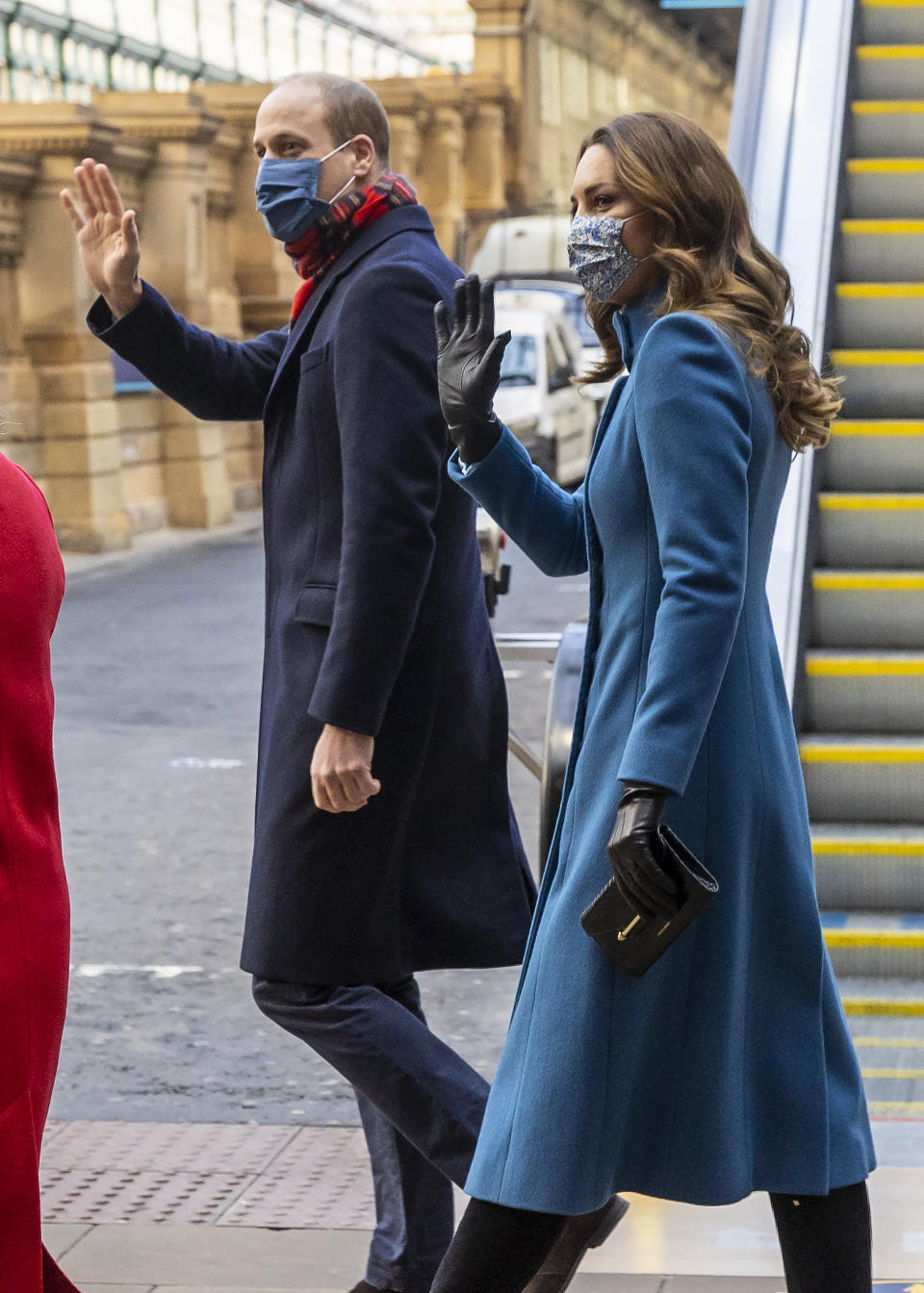 The Duke and Duchess of Cambridge embarked on a three-day royal train tour in 2020, which saw them stop off in Scotland's capital of Edinburgh.  (Getty Images)