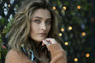 "Paris Jackson poses for a portrait in Beverly Hills, Calif., on Oct. 27, 2020, to promote her debut solo album ""Wilted,"" releasing on Nov. 13. Her new single ""Let Down"" drops Friday, Oct. 30. (AP Photo/Chris Pizzello)"