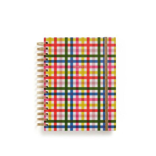 """This is the planner I have on my desk and it helps me stay organized every week and month. I highly recommend it! $28, Ban.do. <a href=""""https://www.bando.com/products/medium-17-month-planner-block-party"""">Get it now!</a>"""