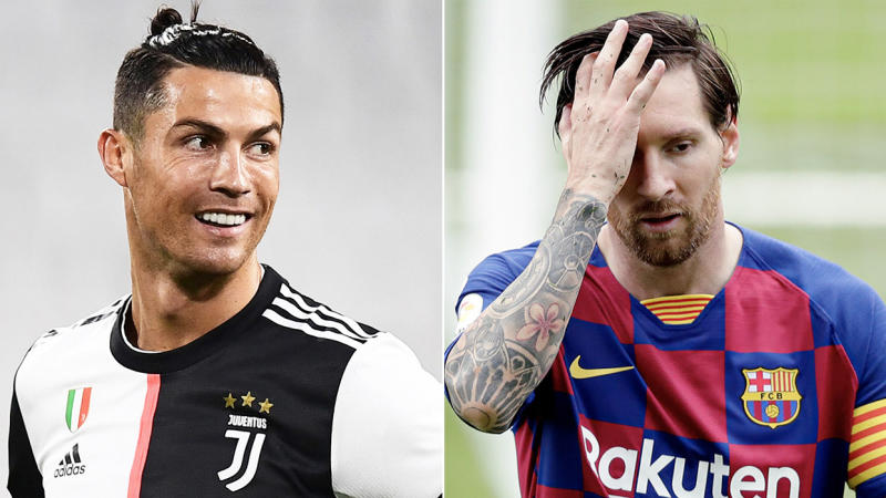 Cristiano Ronaldo (pictured left) scored a long-range goal for Juventus, while Lionel Messi (pictured right) scored his 700th goal for club and country. (Getty Images)