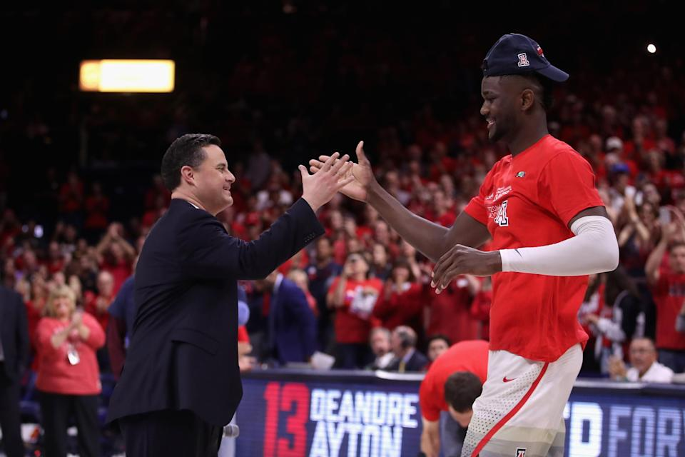 Deandre Ayton found a place to get his basketball career back on track with Sean Miller at Arizona. (Getty)