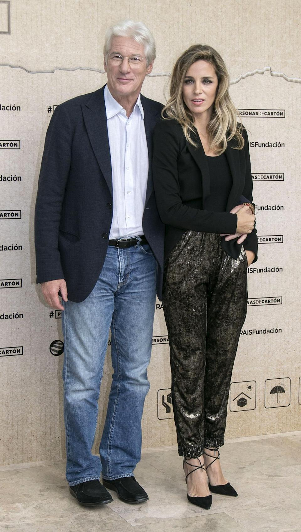 Richard Gere and Alejandra Silva at a charity event in Spain in 2016. (Photo: Europa Press/Europa Press via Getty Images)pe