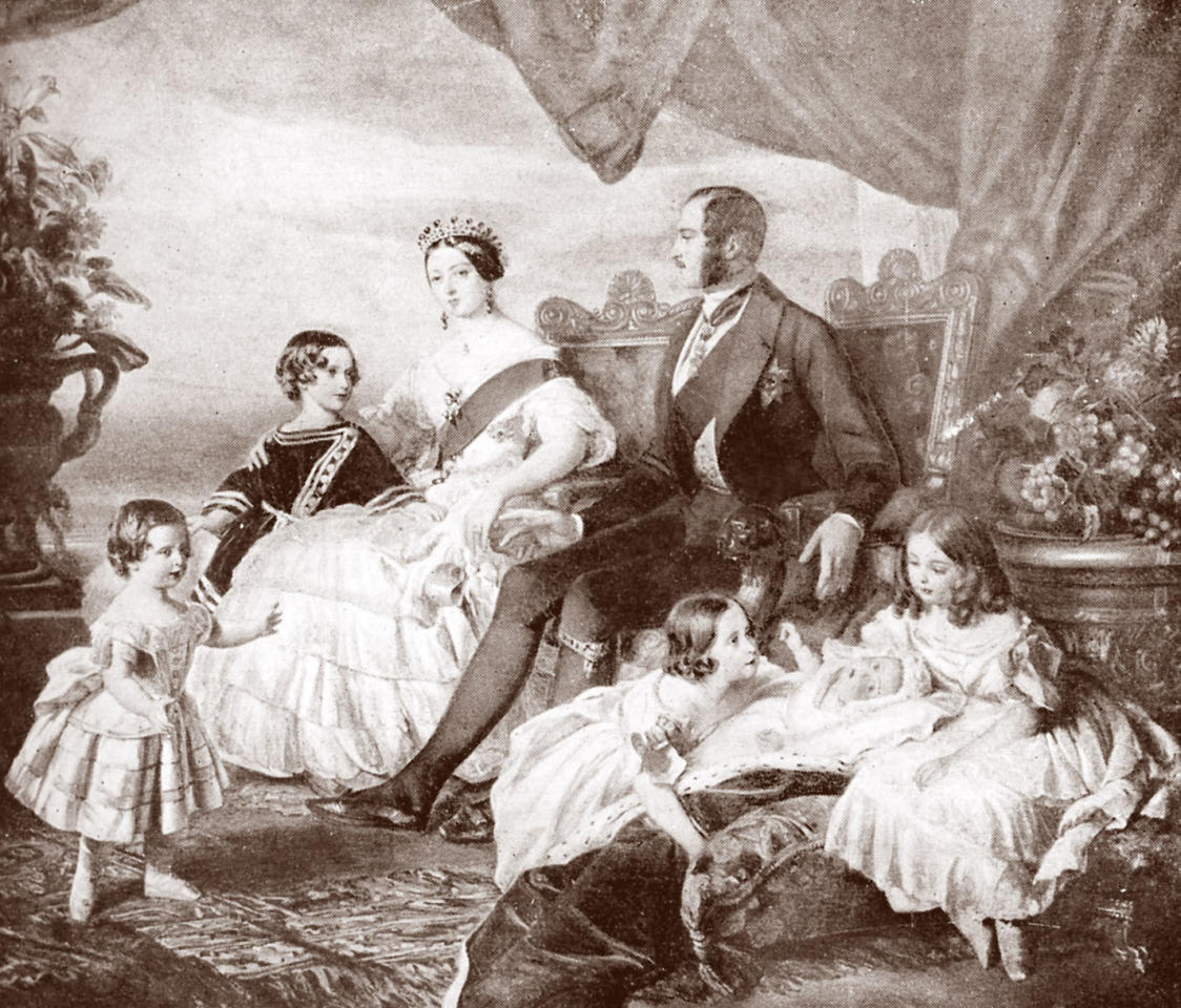 <p>Queen Victoria and Prince Albert shown with some of their children in 1846, in a painting by F. Winterhalter. (Photo: Culture Club/Getty Images) </p>