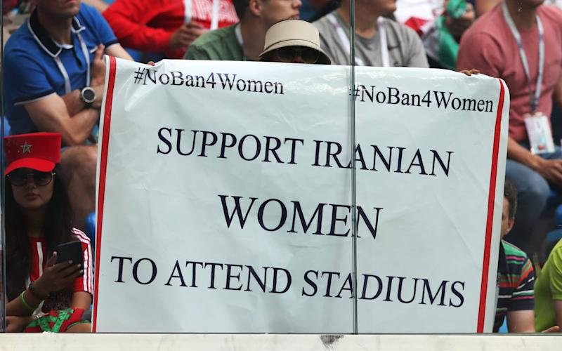 Since the Islamic Revolution in 1979 Iranian women have been banned from attending football stadiums - Getty Images Contributor