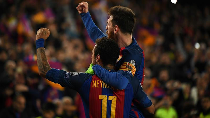 Lionel Messi Neymar Barcelona Champions League