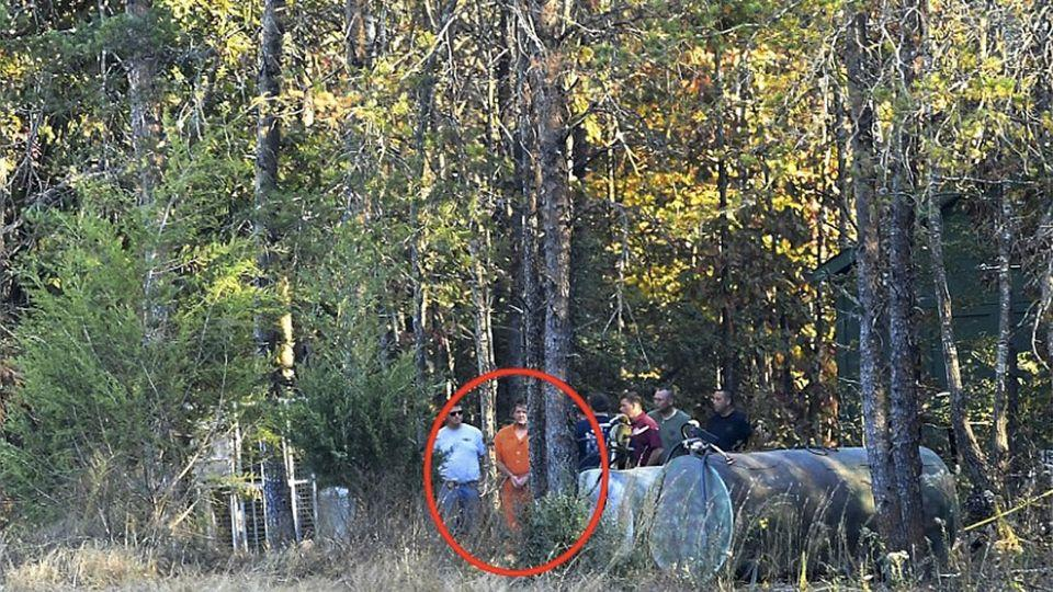 Kohlhepp showed officers where he claimed to have buried two other victims on his Woodruff property, close to where they found the woman chained inside the container. Photo: AP
