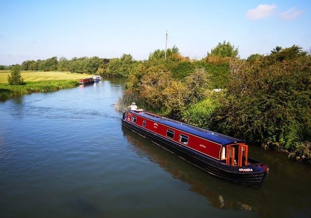 A narrowboat on the Thames
