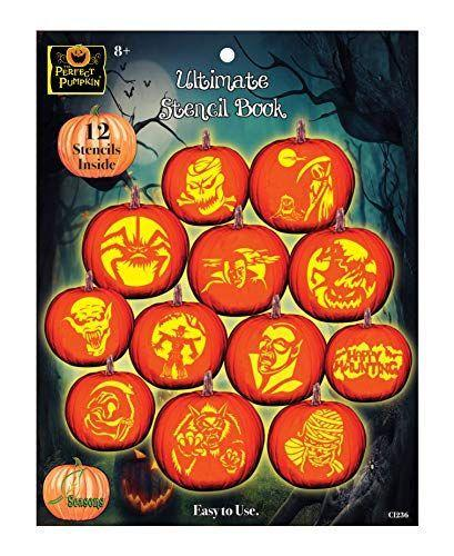 """<p><strong>The Perfect Pumpkin</strong></p><p>amazon.com</p><p><strong>$7.99</strong></p><p><a href=""""https://www.amazon.com/dp/B00CMQAZ96?tag=syn-yahoo-20&ascsubtag=%5Bartid%7C2164.g.36719588%5Bsrc%7Cyahoo-us"""" rel=""""nofollow noopener"""" target=""""_blank"""" data-ylk=""""slk:Shop Now"""" class=""""link rapid-noclick-resp"""">Shop Now</a></p><p>If freehand carving doesn't sound like your thing, try a stencil instead. These reusable designs can be traced directly onto your pumpkin to guide your knife and better predict the final result of your carving adventures.</p>"""