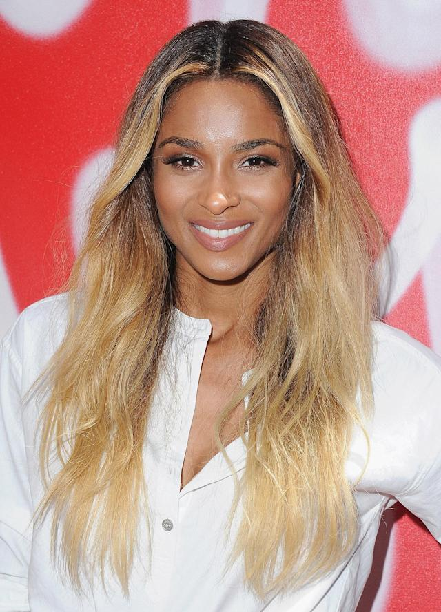 <p>We love how this blond hair color complements Ciara's fresh glow. (Photo: Jon Kopaloff/FilmMagic) </p>
