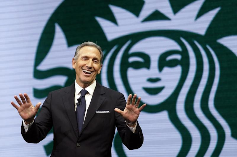 Starbucks' Howard Schulz said the company will hire 10,000 refugees over five years (AP)
